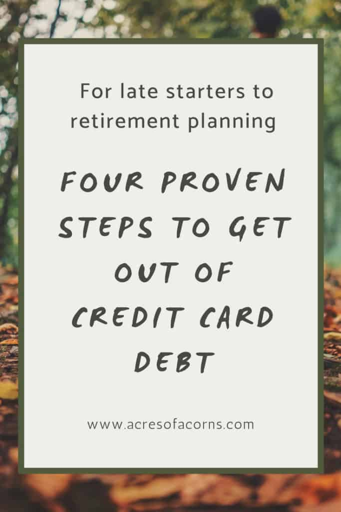 Four Steps To Getting Out of Credit Card Debt